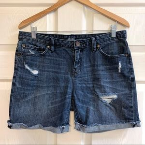 Distressed Holy Denim Cut Off Jean Shorts Size 28